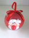 LED Santa Bauble Great Christmas Tree Decoration Flashing red nose